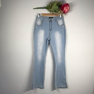 CBR | NWT High Waisted Distressed Jegging SZ L